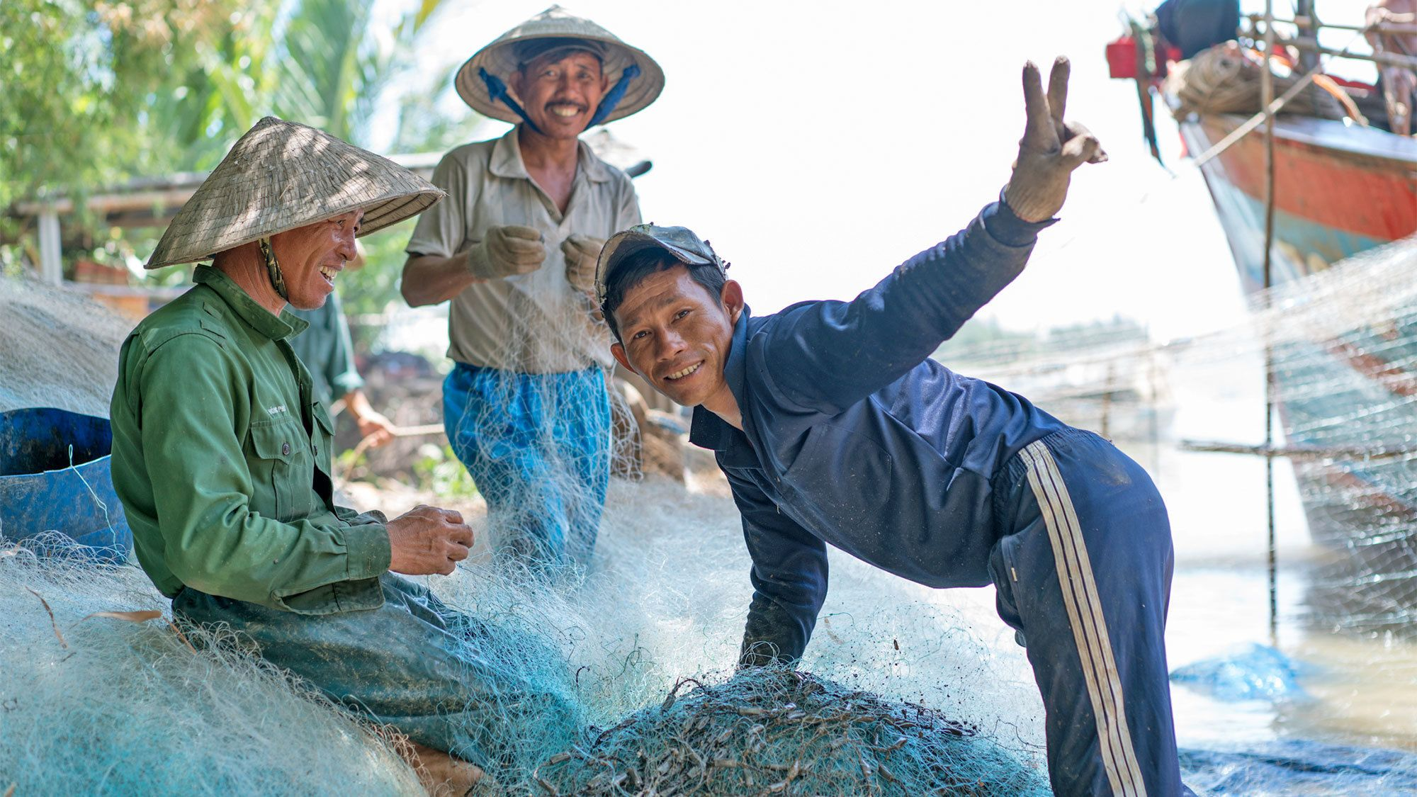 Locals in the countryside of Hoi An