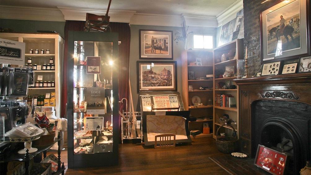 Living room inside the Lotz House Museum in Nashville