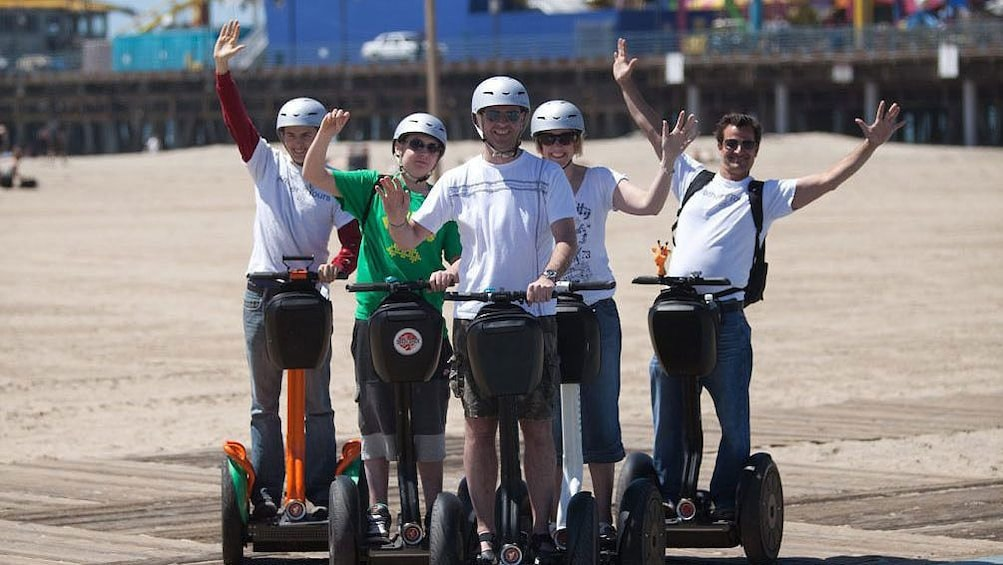 Segway tour group near the Santa Monica pier.