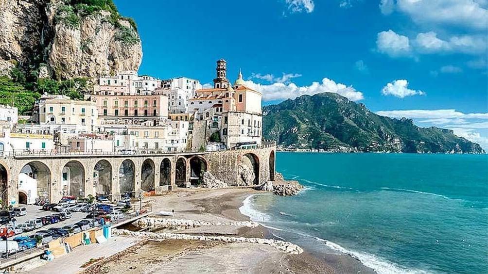 Show item 5 of 5. Landscape view of vietri sul mare amalfi
