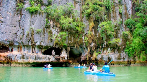 Kayak group in Phang Nga Bay