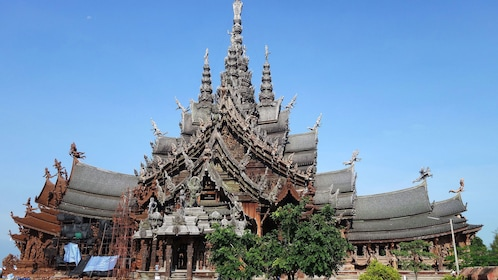 View of The Sanctuary of Truth in Pattaya