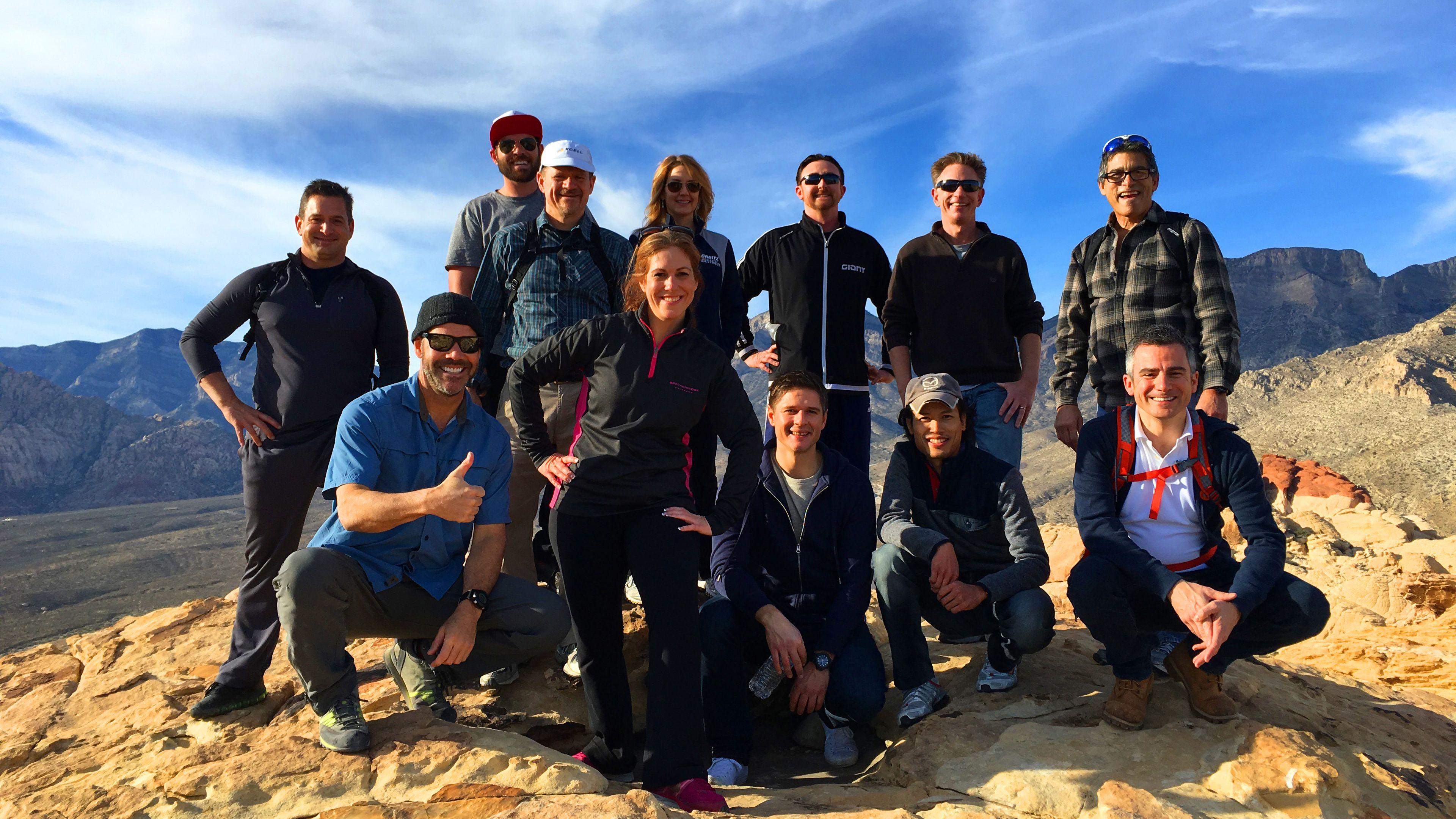 Hiking group in Las Vegas