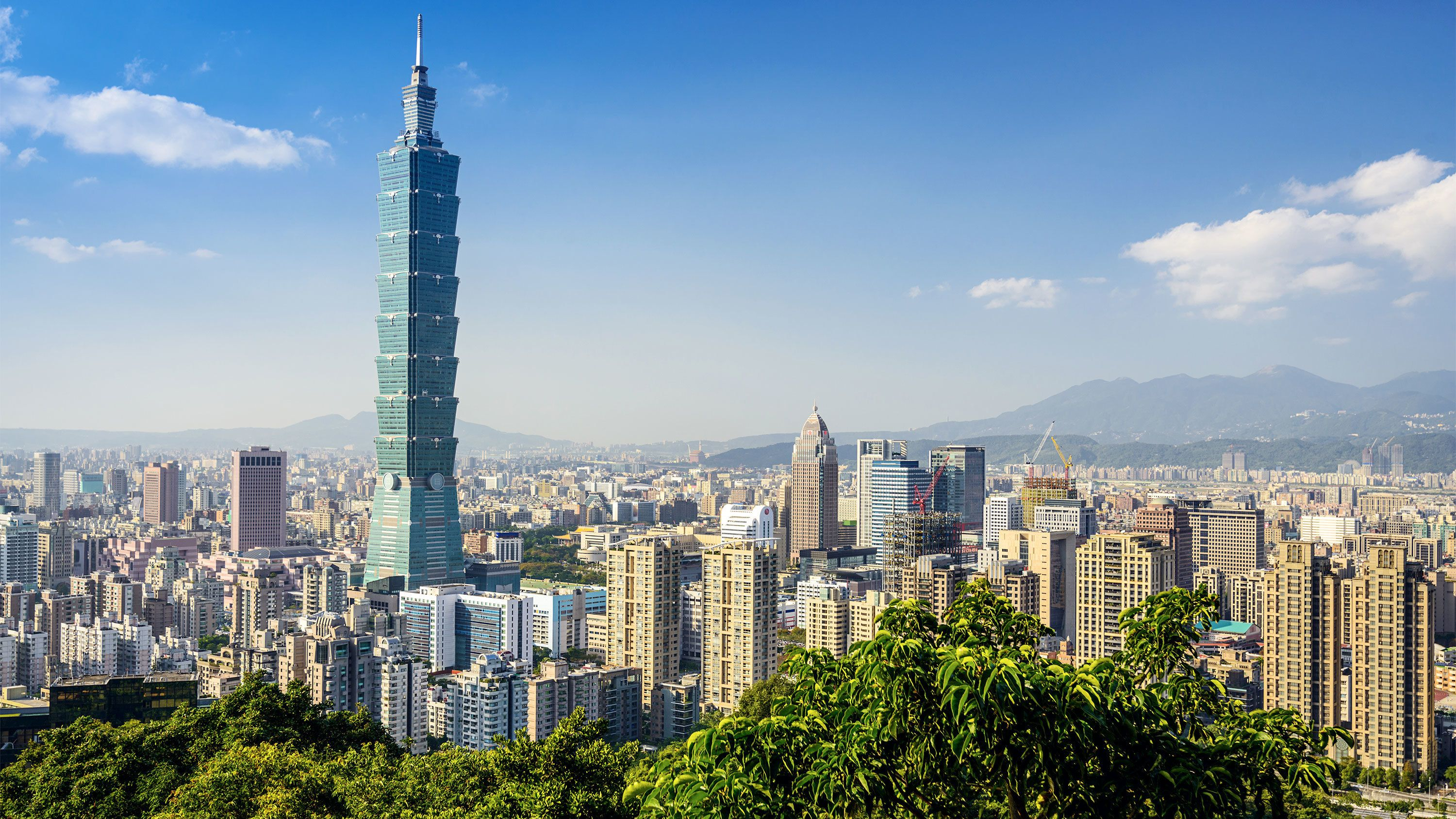Panoramic view of Taiwan on a sunny day