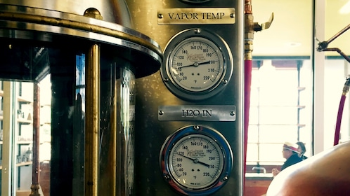 Temperature gauges at a distillery in Tennessee