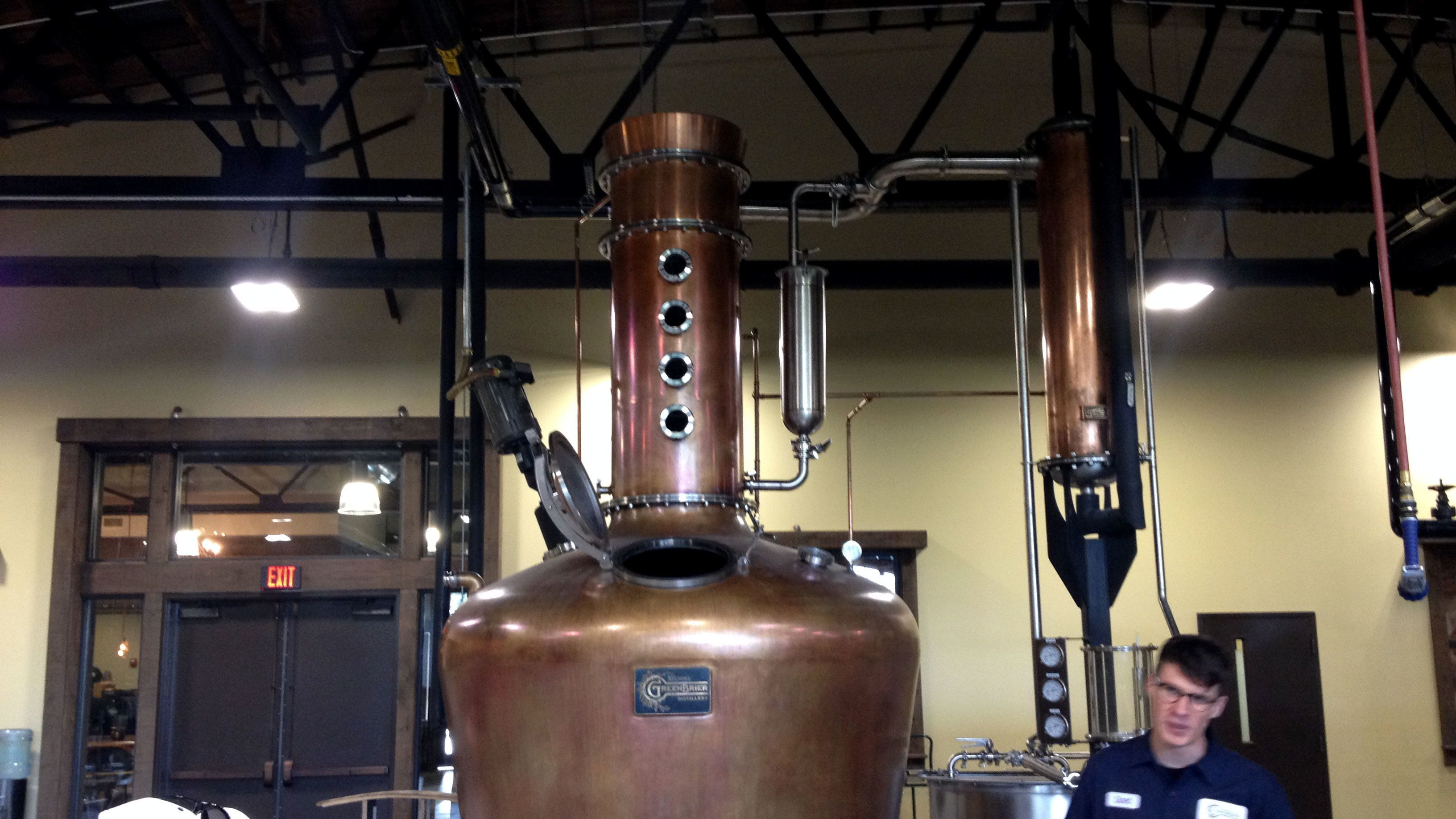Inside a distillery in Tennessee