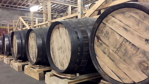 Barrels at a distillery in Tennessee