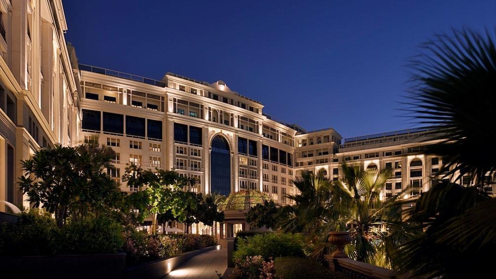 Exterior of Versace Dubai, location of Enigma restaurant in Dubai