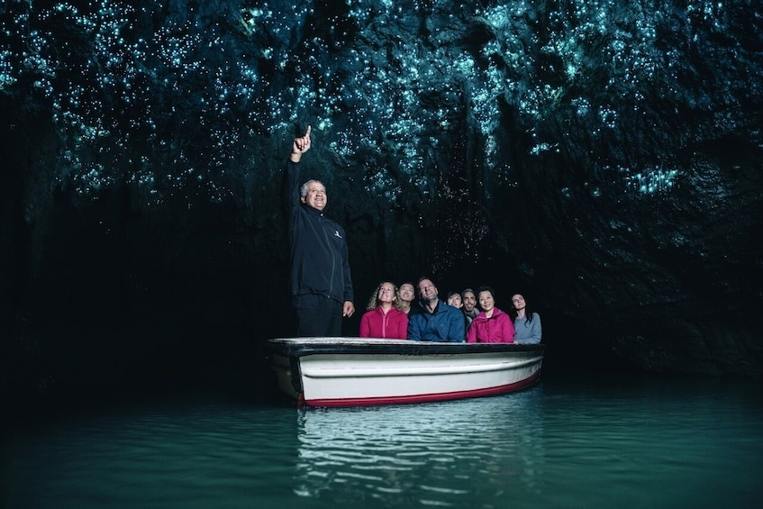 Show item 1 of 10. Waitomo Glowworm Caves Boat Tour