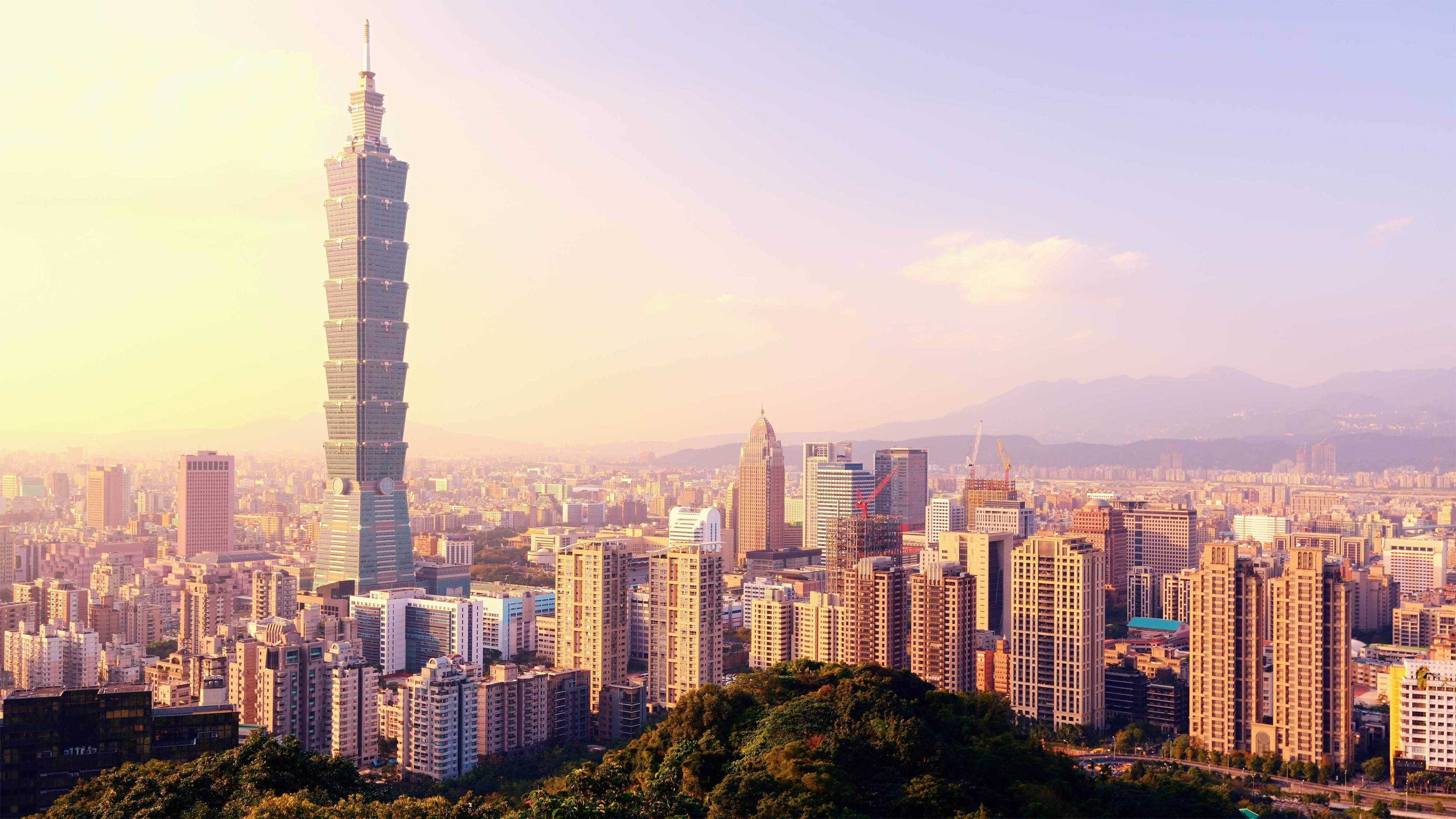 Sunrise view of Taipei