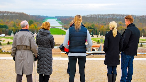 Tour group at the Palace of Versailles