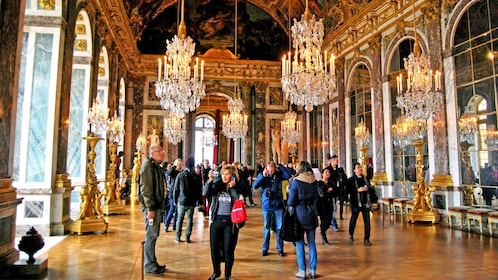 Inside of palace of Versailles in Paris