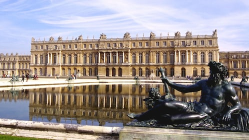 Exterior and reflection pool of the Palace of Versailles