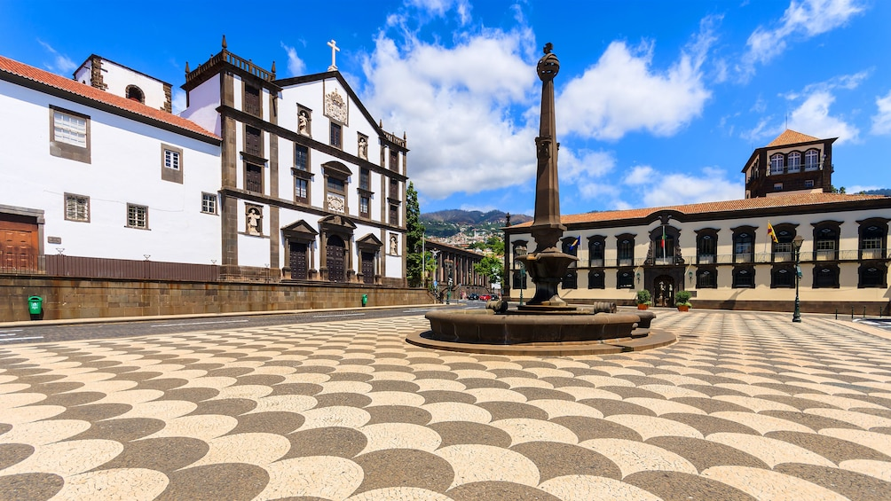 Town square in Monte, Funchal