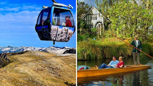 Combo image of two kinds of gondolas