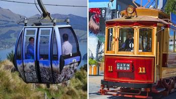 Combinatieticket: hop-on, hop-off-tramtour en kabelbaanrit