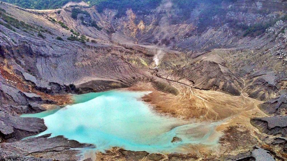 Tangkuban Perahu, a Stratovolcano in Indonesia