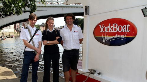 Crew for YorkBoat cruises on the River Ouse
