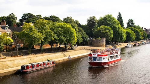 Cruise boats on the River Ouse in York