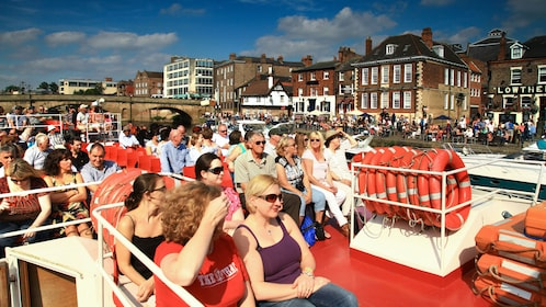 Deck of a cruise boat on the River Ouse in York