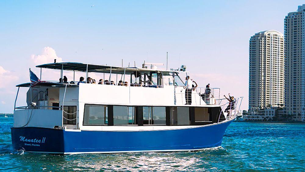 Cruise boat in Miami