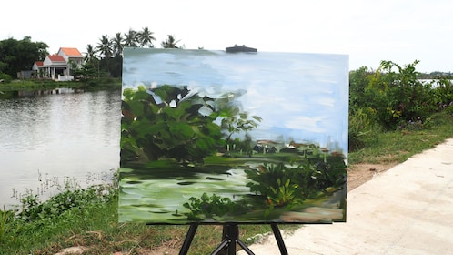 Finished painting of scenery in Hoi An