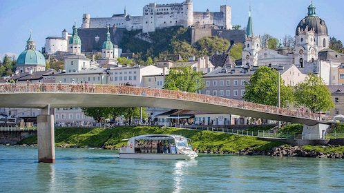 Castle next to a river in Salzburg