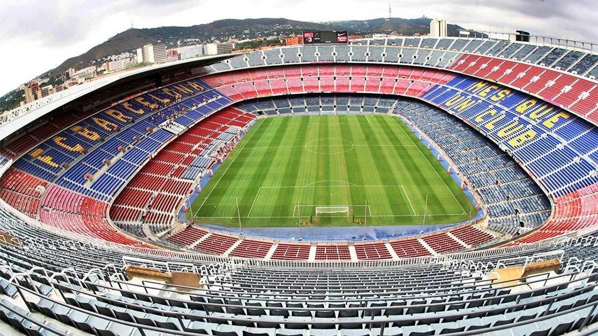 View of the stadium for FC Barcelona