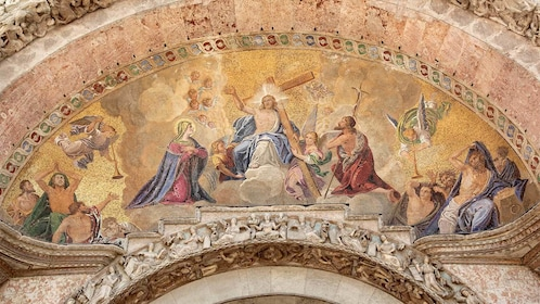 Painting inside Saint Mark's Basilica in Italy