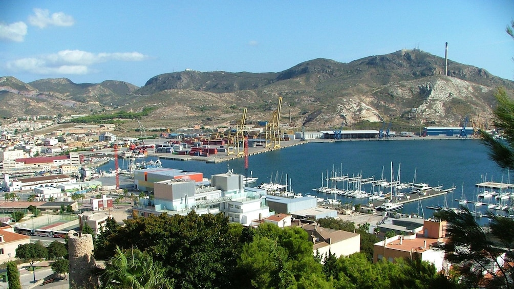 Show item 3 of 5. View of the harbor in Cartagena