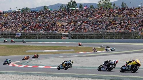 Motorcycle race in Barcelona