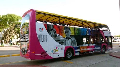 Hop-on hop-off bus in Uruguay