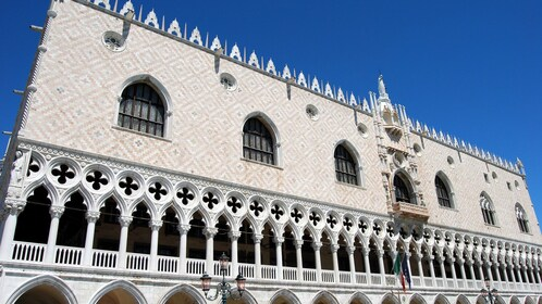 View of elegant architecture of Palazzo Ducale in Venice