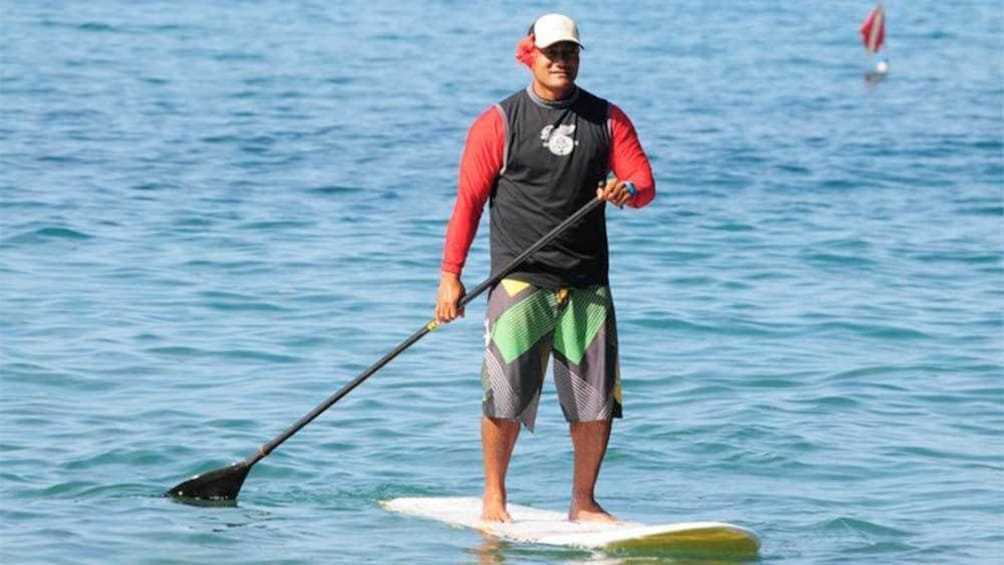 Show item 1 of 4. Man on the Kihei SUP Lesson