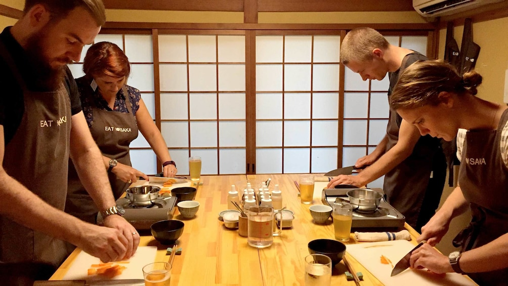 Show item 5 of 5. View of the Street Food Cooking Class in Osaka