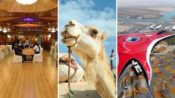 Combo Saver: Desert Safari, Ferrari World & Dhow Cruise