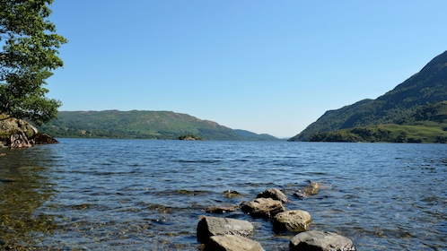 View of Ullswater from shoreside in England