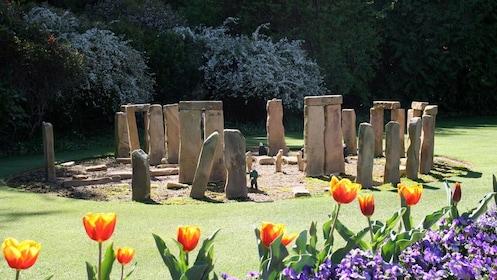 Miniature Stonehenge in Cockington Green Gardens in Nicholls