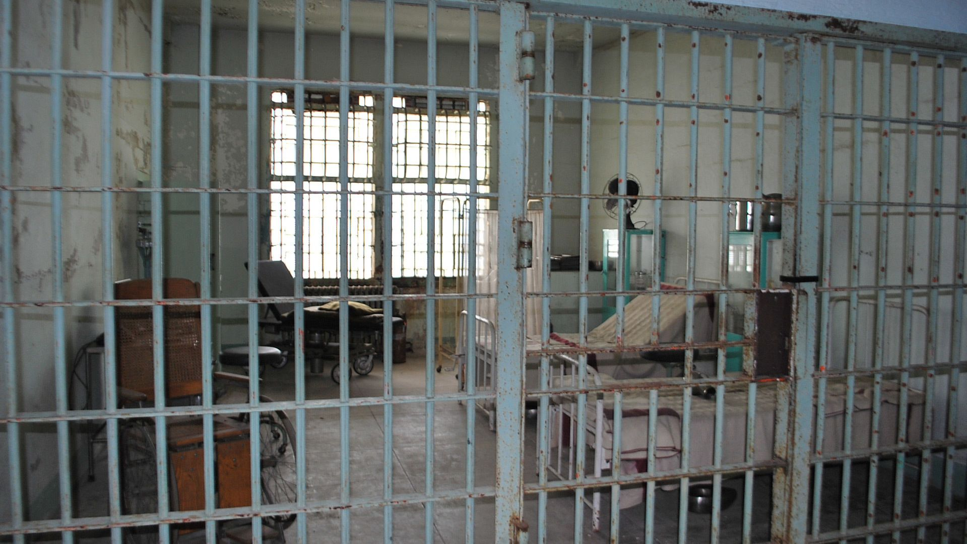 Cell inside Alcatraz in San Francisco