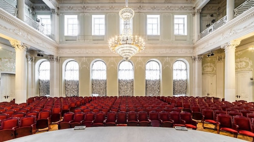 Theater seating at Nikolayevsky Palace in St Petersburg