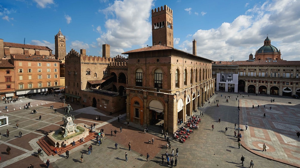 Show item 3 of 7. City square in Bologna