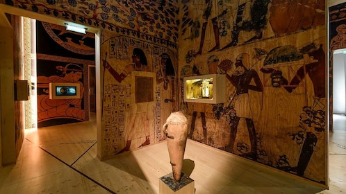 Egyptian themed room in La Cité du Vin in Bordeaux