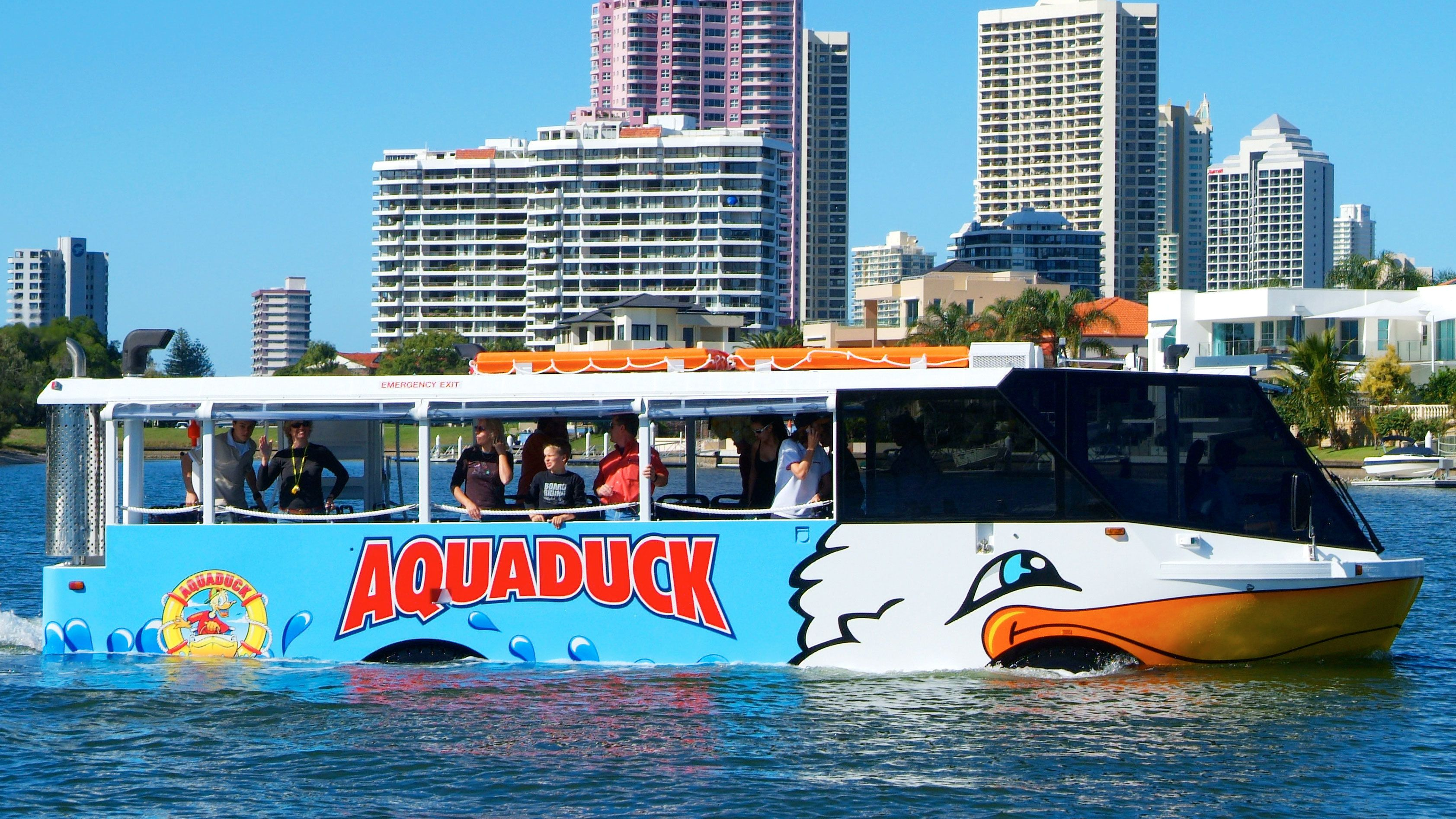 Aquaduck Gold Coast Sightseeing Tour and River Cruise