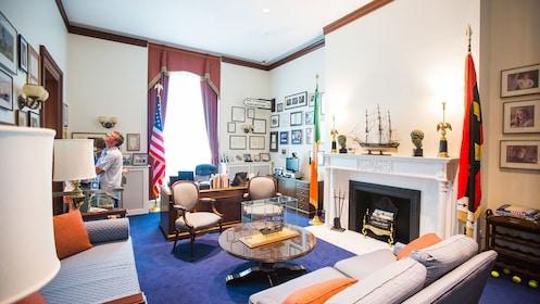 Inside room in Edward M. Kennedy Institute in Boston