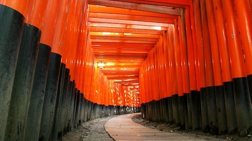View up pathway of Fushimi Inari in Kyoto