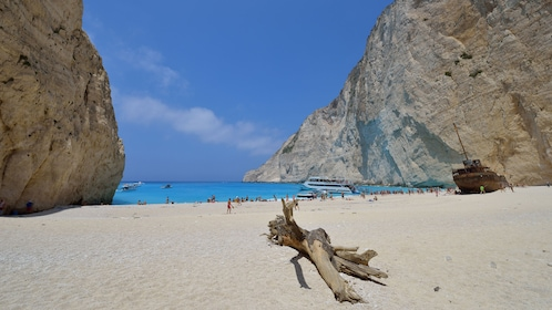 Beach at Smuggler's Cove in the Ionian Islands