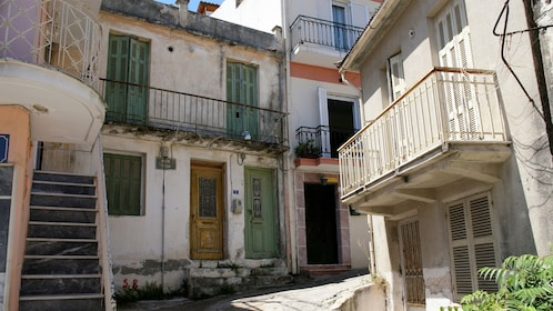 Buildings in the town on Zakynthos Island