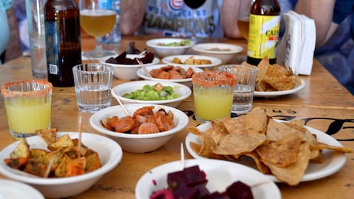 Food on the Cantinas Tour in Merida, Yucatan, Mexico