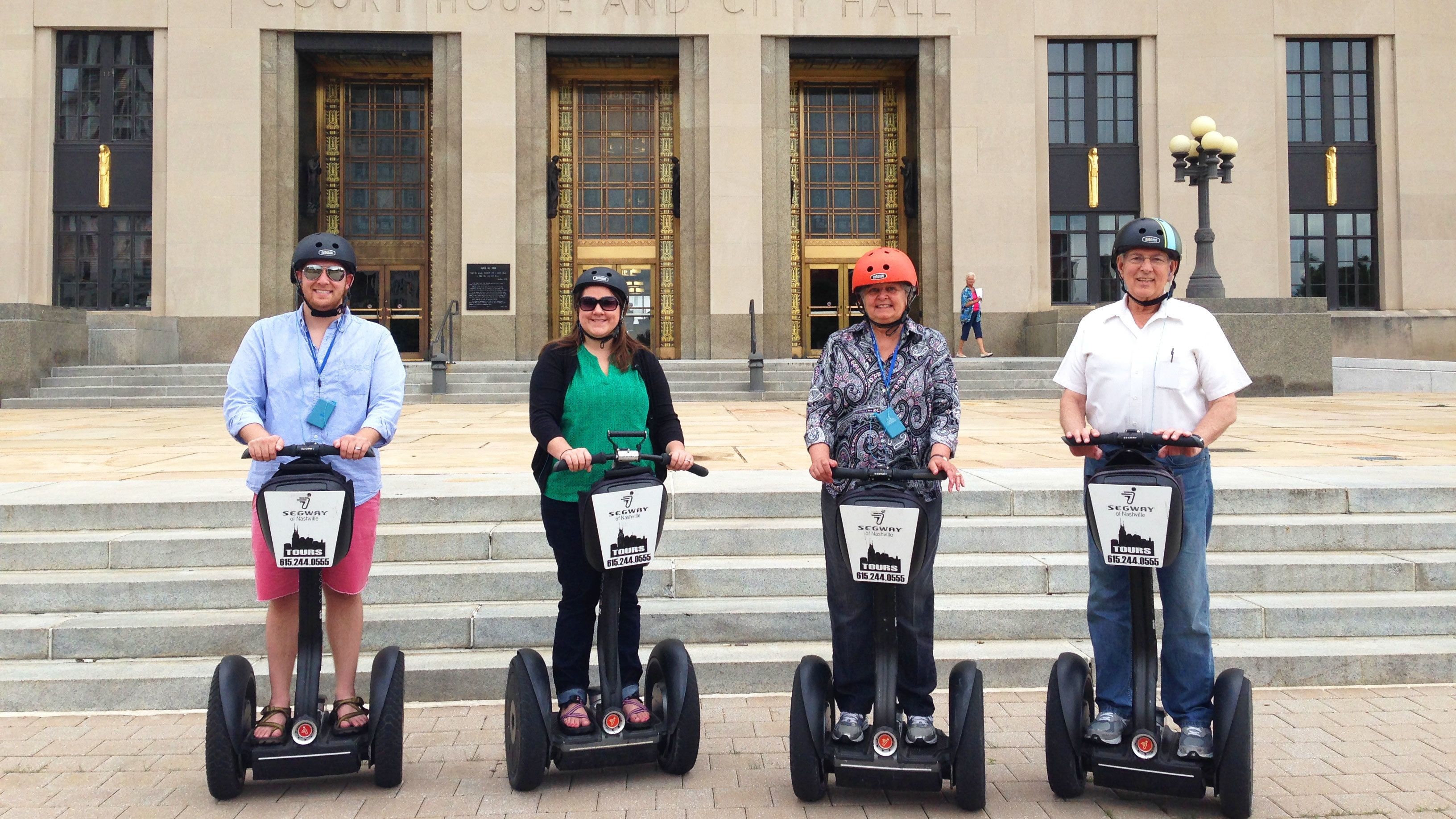 Segway group in front of city hall in Nashville