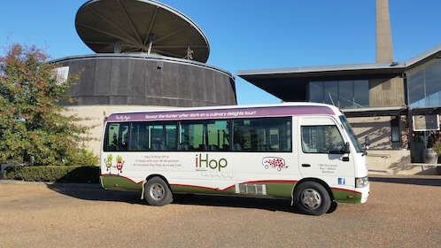 Tour bus parked outside of winery in New South Wales